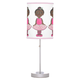 Little Girl Ballet Dancer Ballerina Pink Rose Tutu Table Lamp
