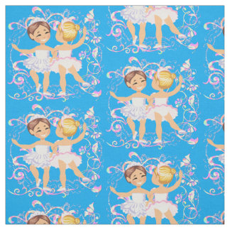 Little Girl Ballet Dancers Fabric