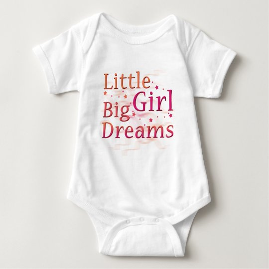 Little Girl Big Dreams Baby Bodysuit