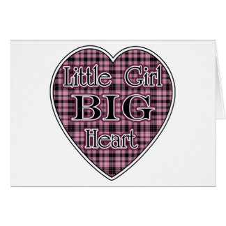 Little Girl Big Heart Greeting Card