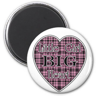 Little Girl Big Heart Magnets
