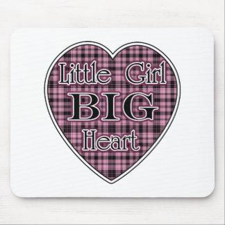 Little Girl Big Heart Mousepads
