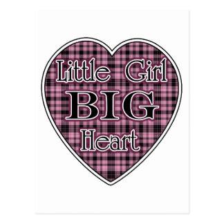 Little Girl Big Heart Postcard