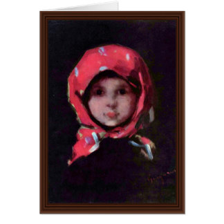 Little Girl By Grigorescu Nicolae (Best Quality) Card