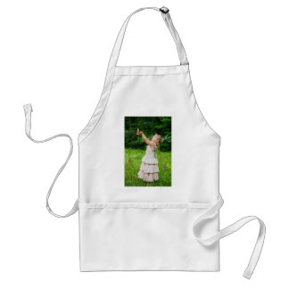 Little Girl Catching a Butterly Standard Apron