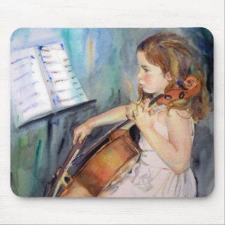 Little Girl Cellist Musical Art Mouse Pad