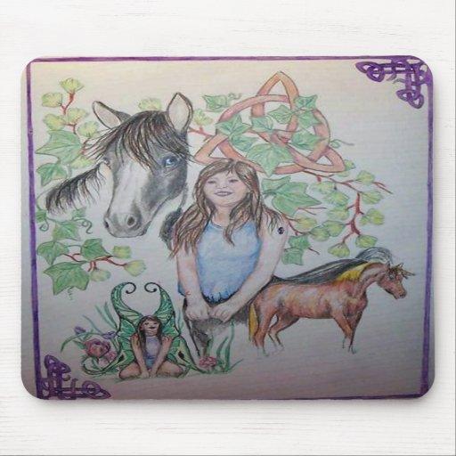 Little girl Centaur Mouse Pad