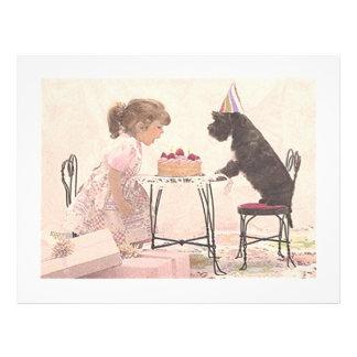 Little Girl & Dog Celelbration Personalized Flyer