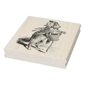 Little Girl Dog Vintage Rubber Art Stamp