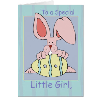 Little Girl, Ear-Resistible Easter Card