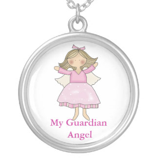 Little Girl Guardian Angel necklace