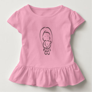 Little Girl holding a bear Toddler T-shirt