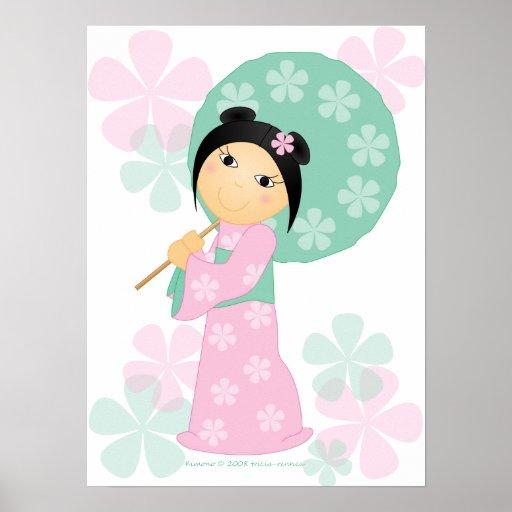 Little Girl Kimono Print