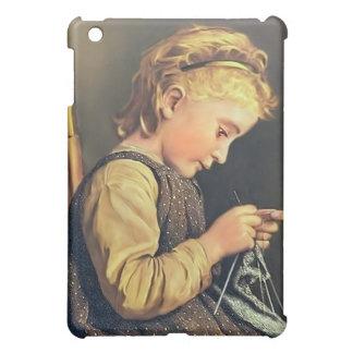 Little Girl Knitting Cover For The iPad Mini