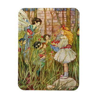 Little Girl Meets Fairies, Magnet