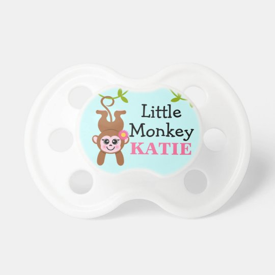 Little Girl Monkey Baby Pacifiers
