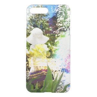 Little Girl Nature Collage Pink Flower Blue Yellow iPhone 7 Plus Case