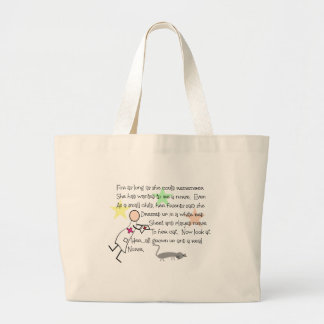 """Little Girl Nurse"" Story--Unique Gifts Large Tote Bag"
