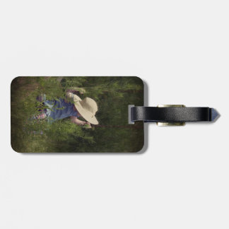 Little Girl on a Swing Bag Tag