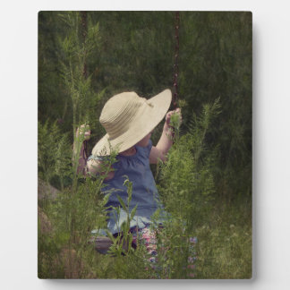 Little Girl on a Swing Plaque
