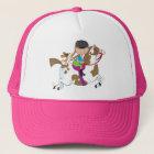 Little Girl On Horse Trucker Hat