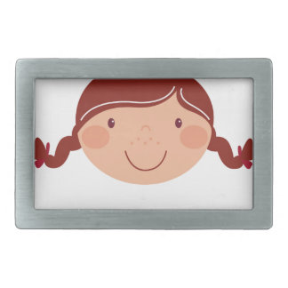 Little girl on white belt buckle