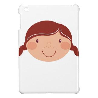 Little girl on white iPad mini case