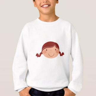 Little girl on white sweatshirt