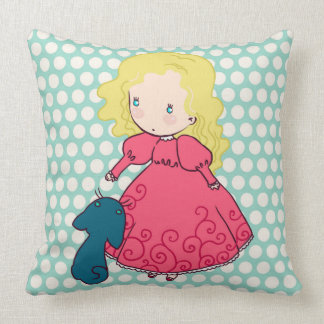 Little girl pillow princess cute lady