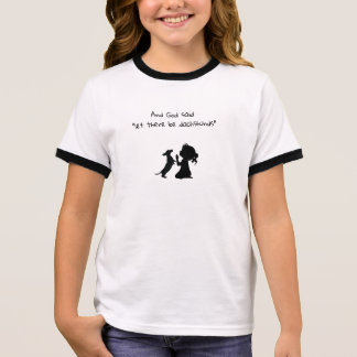 Little Girl Praying With Dachshund Shirt