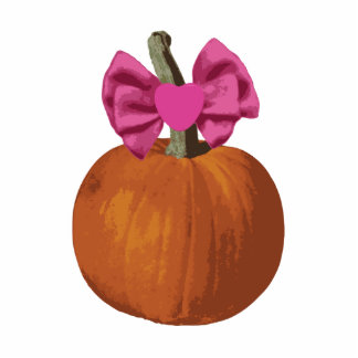 Little Girl Pumpkin Photo Sculpture Magnet