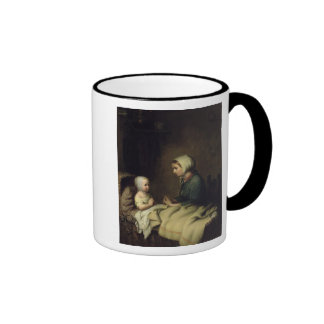 Little Girl Saying Her Prayers in Bed Mugs