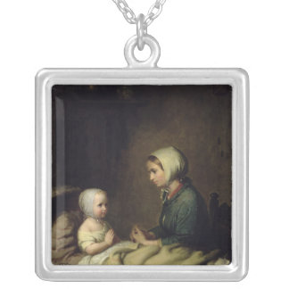 Little Girl Saying Her Prayers in Bed Necklaces