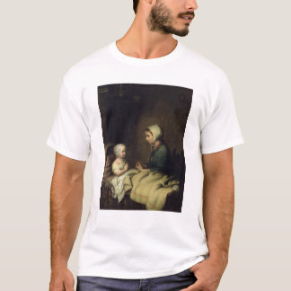 Little Girl Saying Her Prayers in Bed T-Shirt