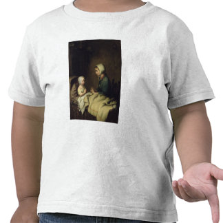 Little Girl Saying Her Prayers in Bed Tee Shirt