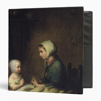 Little Girl Saying Her Prayers in Bed Vinyl Binders