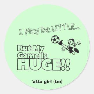 Little girl SOCCER Classic Round Sticker