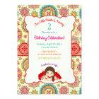 Little Girl Spanish Dress Colourful Card