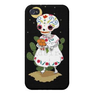 Little Girl Sugar Skull iPhone 4 Case