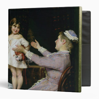 Little Girl with a Doll and Her Nurse, 1896 Binder