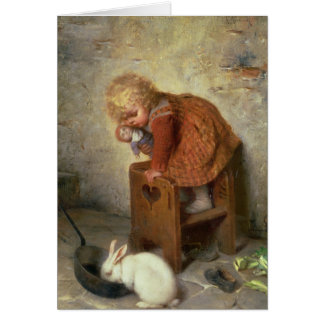 Little Girl with a Rabbit Card
