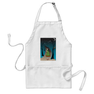 Little girl with baby deer apron