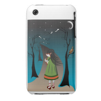 Little girl with baby deer case mate iPhone 3 covers