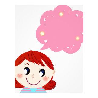 Little Girl with Bubble tshirt Letterhead