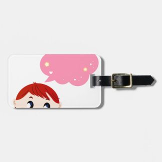 Little Girl with Bubble tshirt Luggage Tag