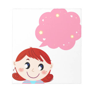 Little Girl with Bubble tshirt Notepad