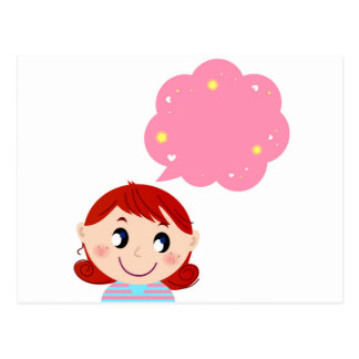 Little Girl with Bubble tshirt Postcard