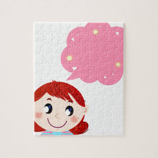 Little Girl with Bubble tshirt Puzzles
