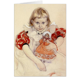 Little Girl with Doll 1897 Card
