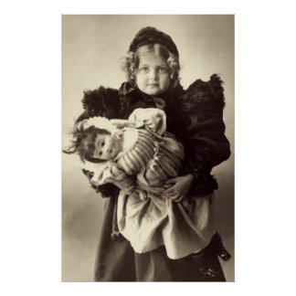 Little Girl with Her Doll, 1898 Poster